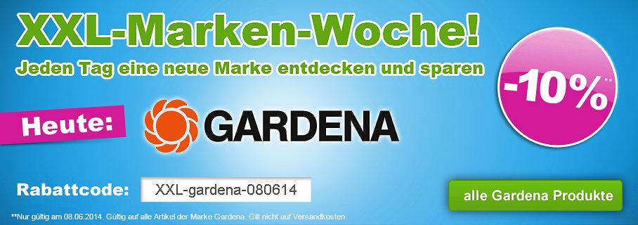 Nur heute: 10% Rabatt auf Gardena Artikel bei GartenXXL