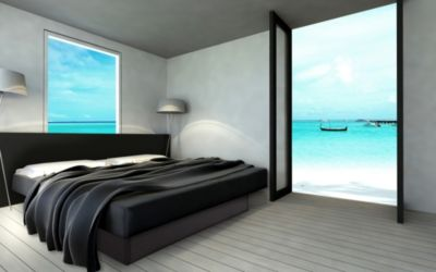 Ocean Duo Wasserbett, 180 x 200 cm, schwarz, F3