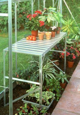Vitavia Aluminium-Tisch eloxiert, 1 Ablagefläche