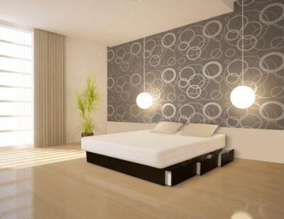 Ocean Mono Wasserbett Deluxe mit Schubladen, 200 x 200 cm, schwarz, F6