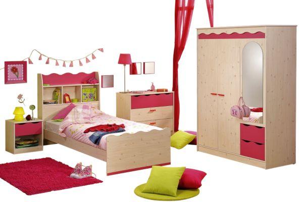 Details zu Kinderzimmer Lolita, Kinderbett, Kleiderschrank