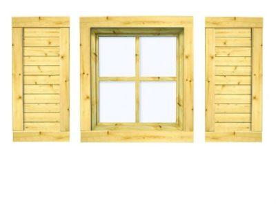 Karibu Fensterläden für 28 mm Fenster