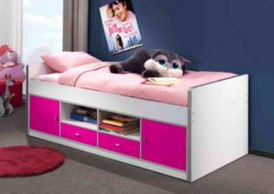 Vipack Kojenbett Bonny BONKB90, fuchsia | Kinderzimmer > Jugendzimmer | Weiß - Fuchsia | Vipack Furniture