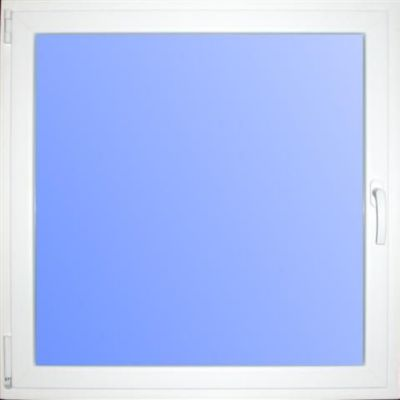Wärmeschutzfenster Kunststoff weiß/weiß 80 x 80 cm DIN links
