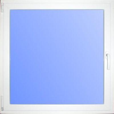 Wärmeschutzfenster Kunststoff weiß/braun 80 x 80 cm DIN links