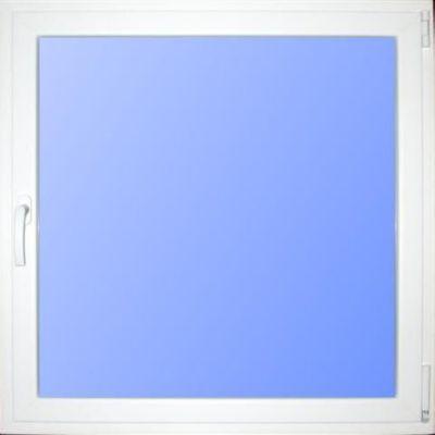 Wärmeschutzfenster Kunststoff weiß/braun 80 x 80 cm DIN rechts