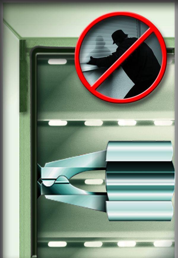 rolladen sicherung standard schutz gegen einbruch ebay. Black Bedroom Furniture Sets. Home Design Ideas