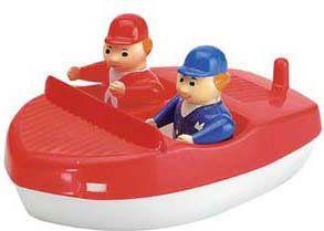 Sportboot mit Figuren