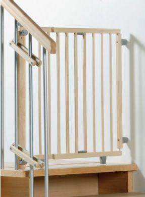 Treppenschutzgitter schwenkbar 70-111cm Natur