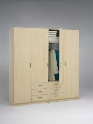 kleiderschrank focus 75076 ahorn hell nachbildung plus de. Black Bedroom Furniture Sets. Home Design Ideas