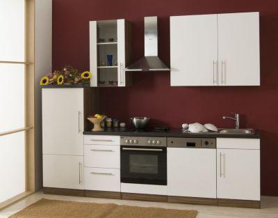 Küchenzeile Cucina inkl. Elektrogeräte - 280 cm, Weiß