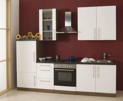 Küchenzeile Cucina inkl. Elektrogeräte - 270 cm, Weiß
