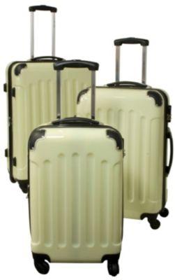 Polycarbonat-ABS-Kofferset 3-teilig, creme/beige