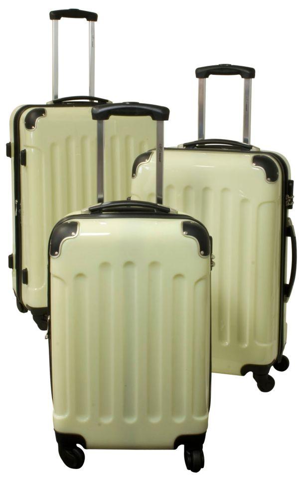 polycarbonat abs kofferset 3 teilig verschiedene farben. Black Bedroom Furniture Sets. Home Design Ideas