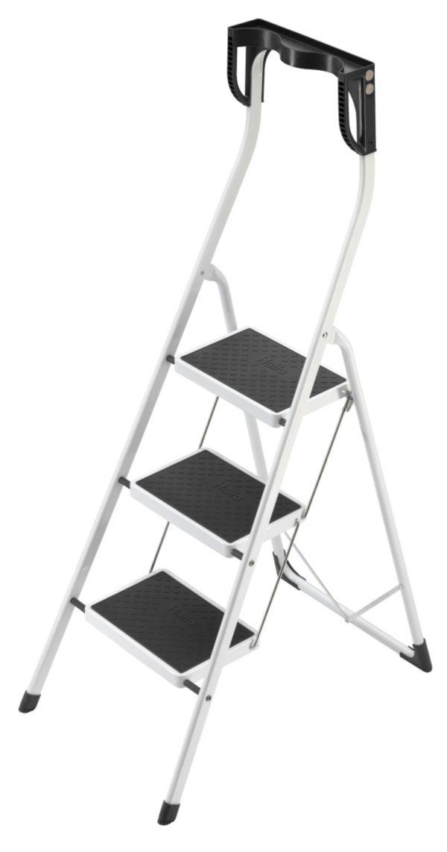 hailo safety plus klapptritt 3 stufen trittleiter tritt leiter ebay. Black Bedroom Furniture Sets. Home Design Ideas