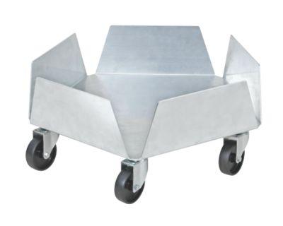 BRB Lagertechnik BRB Blumentopfroller / Tonnenroller aus Aluminium