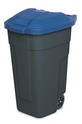 BRB Lagertechnik BRB Mülltonne 100 Liter VE: 2 Stück, anthrazit/blau