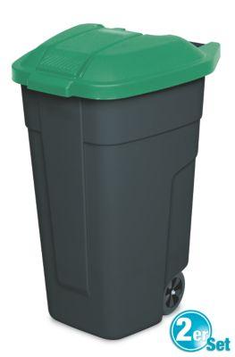 BRB Lagertechnik BRB Mülltonne 100 Liter VE: 2 Stück, anthrazit/grün
