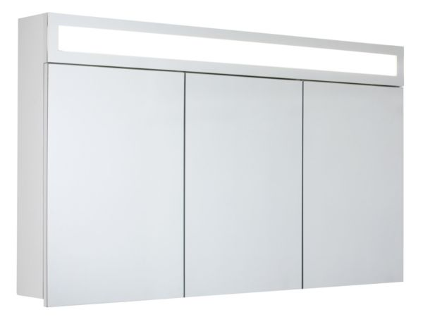 spiegelschrank horizon 120 cm spiegel badezimmerschrank alibert ebay. Black Bedroom Furniture Sets. Home Design Ideas