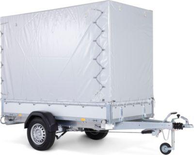 Basic ST 1300-25-13 Pkw-Anhänger inkl. Hochplanen-Set 150cm und Diebstahlsicherung