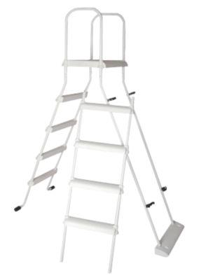 Hochbeckenleiter 2x4 Stufen mit Plattform und Kindersicherung