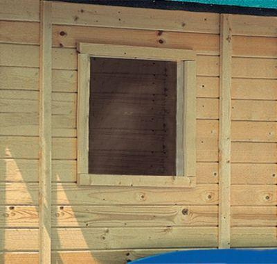 Fenster feststehend für 14 mm Garten- und Gerätehäuser