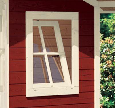 Karibu Dreh-/Kippefenster für 28 mm, elfenbeinweiß für Garten- und Gerätehäuser