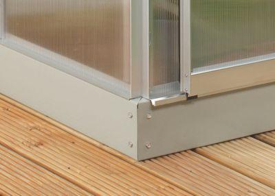 Stahlfundament für Calypso 5800 Gewächshaus, Stahl alu-blank | Garten > Gewächshäuser | Vitavia
