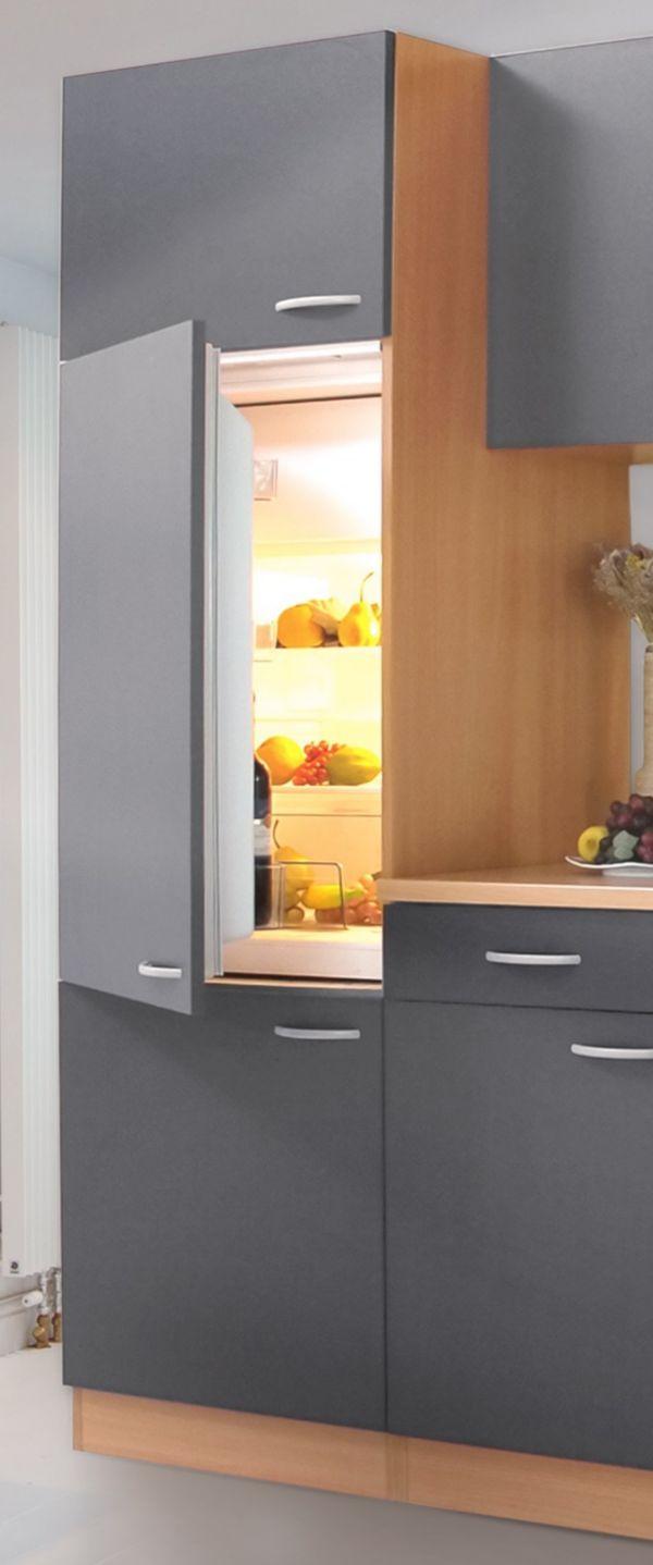 k chenzeile 270 cm buche nachbildung einbauk che. Black Bedroom Furniture Sets. Home Design Ideas