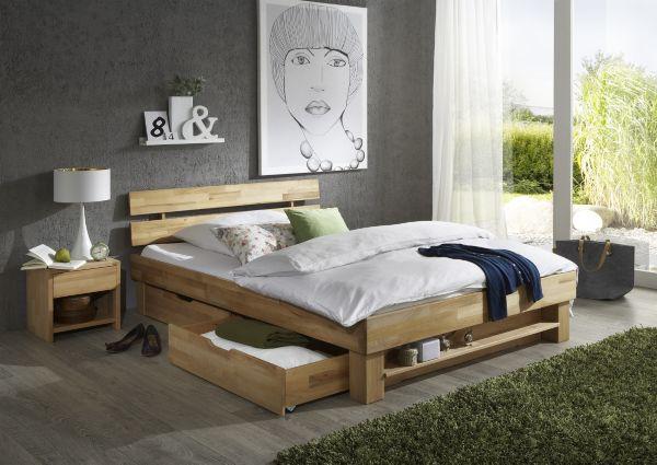 elfo massivholzbett judith bett kernbuche massiv natur. Black Bedroom Furniture Sets. Home Design Ideas