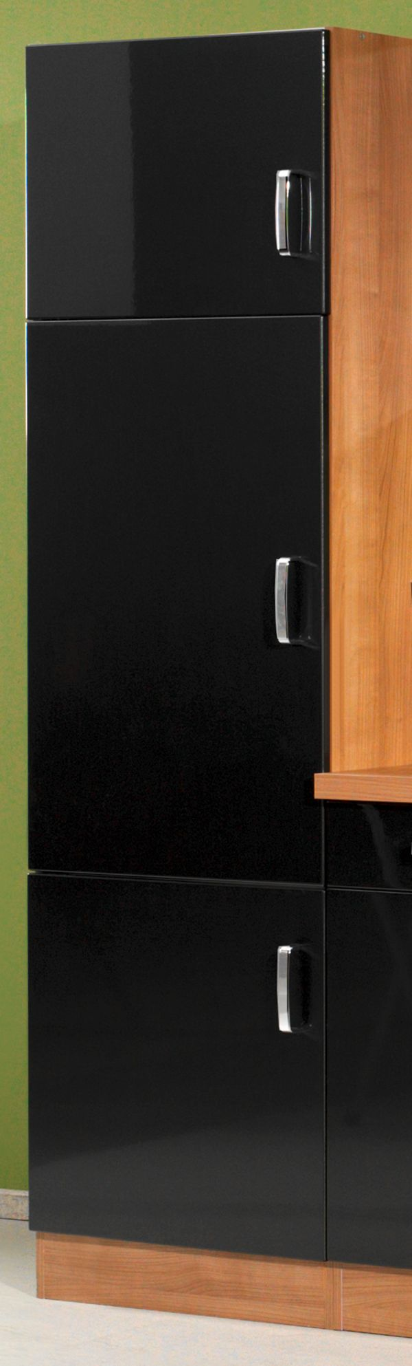 HELD Möbel Küchenzeile Porta 270 cm Hochglanz anthrazit, Küche ...