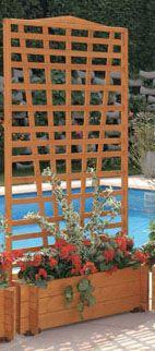 Blumenkasten mit Spalier Mirabell B 100 x H 180 cm