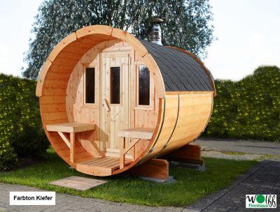 wolff finnhaus saunafass 250 bausatz farbe schwedenrot. Black Bedroom Furniture Sets. Home Design Ideas