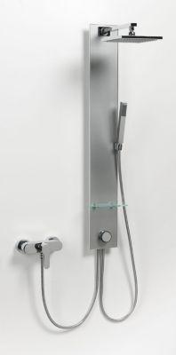 Dusar 150 Glasduschpaneel, silbergrau