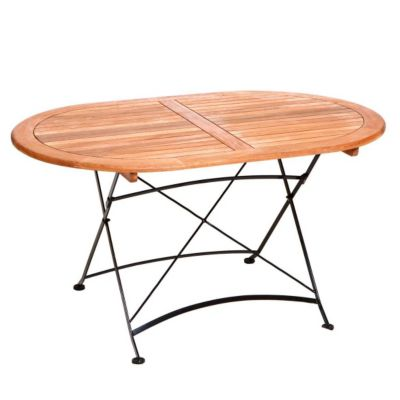 ovale tische klapptisch preisvergleich die besten angebote online kaufen. Black Bedroom Furniture Sets. Home Design Ideas