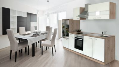 respekta k chenzeile kb270eswc 270 cm wei eiche s gerau nachbildung plus de. Black Bedroom Furniture Sets. Home Design Ideas