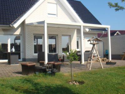 VP Trading Terrassenüberdachung 500x250 weiß aus Aluminium inkl. Statik und Polycarbonat Dacheindeckung | Garten > Pavillons | Aluminium - Polycarbonat | VP Trading