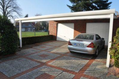 VP Trading Terrassenüberdachung 300x300 weiß aus Aluminium inkl. Statik und Polycarbonat Dacheindeckung | Garten > Pavillons | Aluminium - Polycarbonat | VP Trading