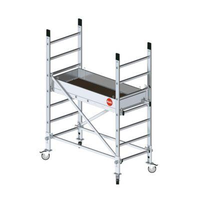 ProfiStep® Multi Fahrgerüst 7m Set 2 mit zwei Aufstockungen und Fahrrollen-Set