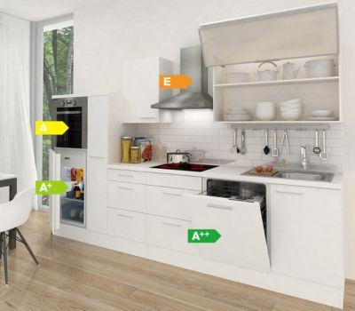 Respekta Premium Küchenzeile RP310HWW 310 cm Weiß