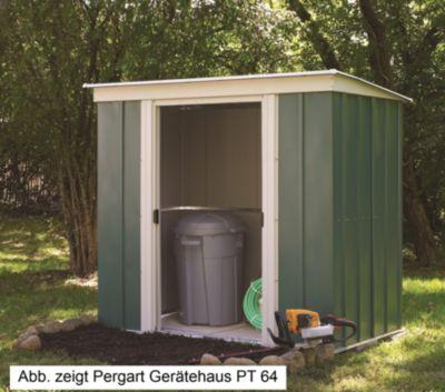 Vitavia PT84 Flachdach Gerätehaus   Garten > Gerätehäuser   Stahl   Vitavia