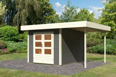multi cube 2 im set mit schleppdach breite 1 50 mit epdm folie als dacheindeckung terragrau. Black Bedroom Furniture Sets. Home Design Ideas