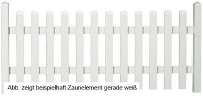 Bausatz Gartenzaunelement gerade weiß 155,6 x 80 cm