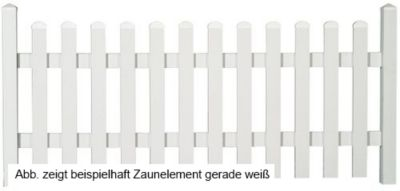 Bausatz Gartenzaunelement gerade weiß 185,2 x 80 cm