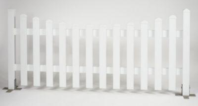 Bausatz Gartenzaunelement Unterbogen weiß 185,2 x 80 cm