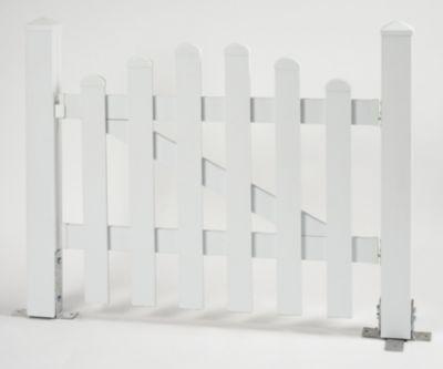 Bausatz Gartenzaun Tür 1 Flügel Oberbogen weiß, B 96,2 x H 80 cm