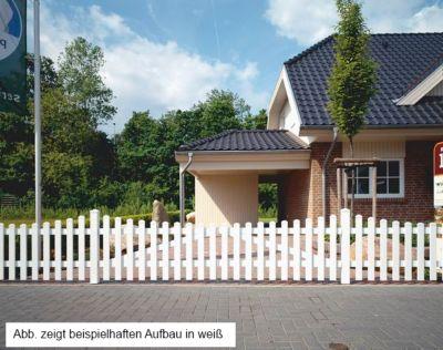 Bausatz Gartenzaun Tür 1 Flügel Unterbogen weiß, B 96,2 x H 80 cm