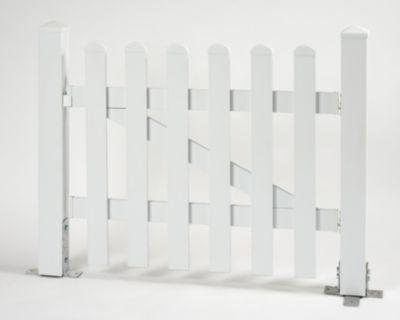 Bausatz Gartenzaun Tür 1 Flügel, gerade weiß, B 96,2 x H 80 cm