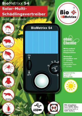 BioMetrixx S4 Solar-Multi-Insekten- und Schädlingsvertreiber