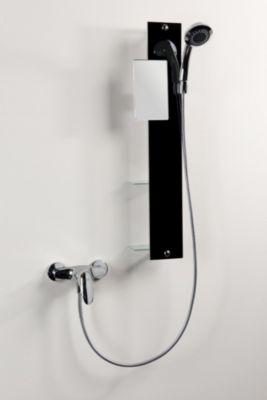 Dusar Lamina Glas-Duschpaneel, schwarz